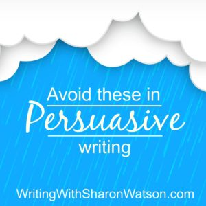 mistakes in persuasive writing