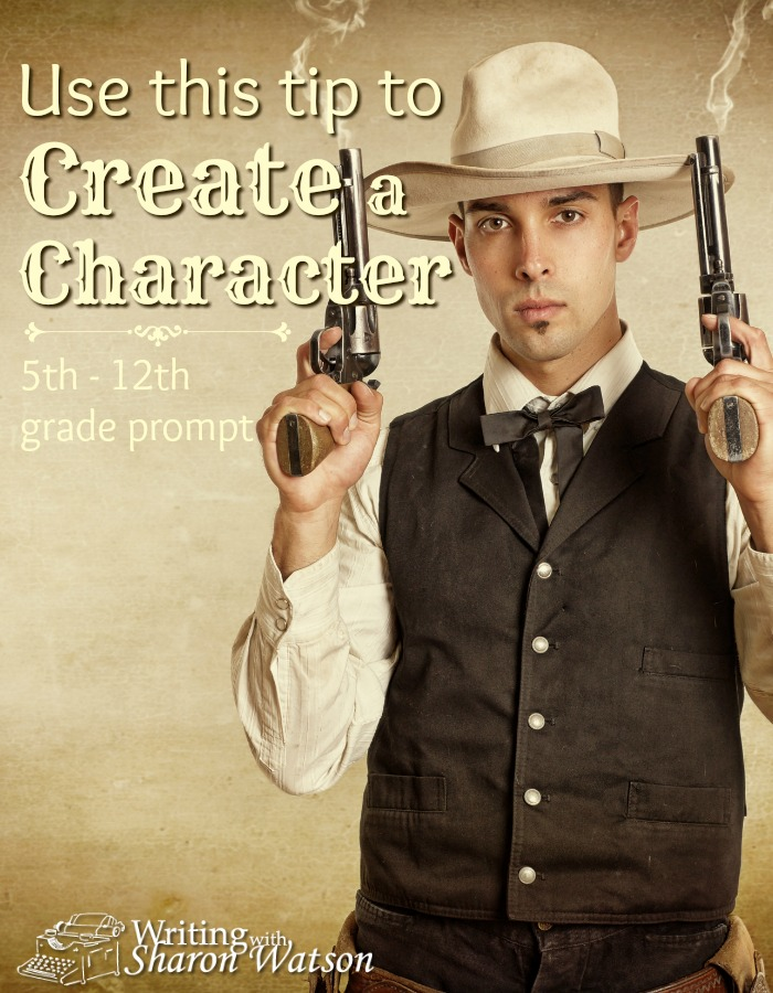 MIDDLE AND HIGH SCHOOL WRITING PROMPT: You want to create a character for your story, but you're stuck. You can't think of one. Use this trick to get you thinking about characters.