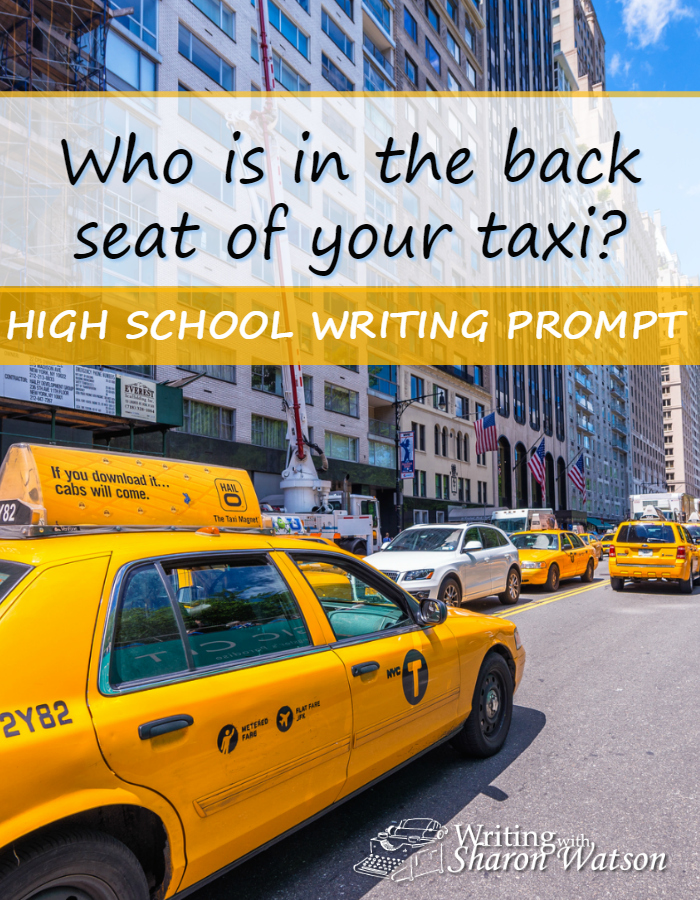 High School Writing Prompt -- When this taxi driver picks up his fare, he gets a surprise. You can read about it here. Write about a famous person you would like to interact with.