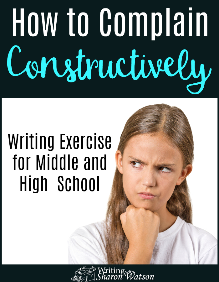 What can you do when your food order is incorrect or your new purchase falls apart? Complain! Learn how to complain constructively with this writing prompt.