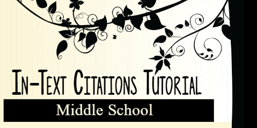 In-text Citations for Middle School Students
