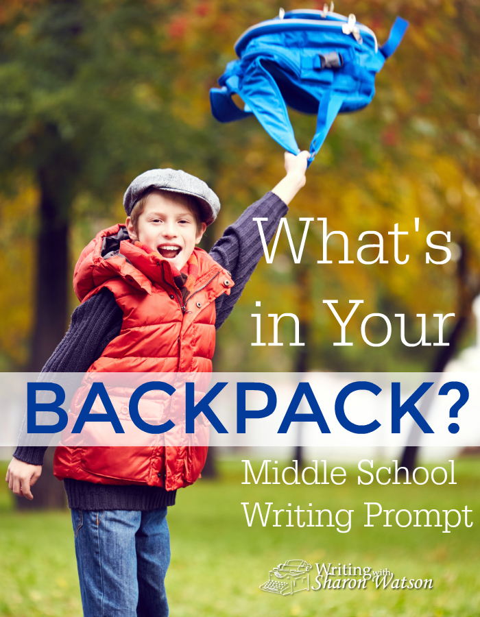What's in Your Backpack Middle School Writing Prompt