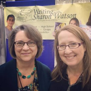 Sharon Watson with friend and social media manager Marcy Crabtree at the Midwest Homeschool Convention in Cincinnati
