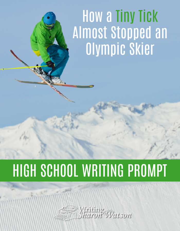 This Olympic skier overcame great odds. Write a paragraph or two of your story to show how you completed a task in the face of great resistance or how you survived something that was tough to deal with. #writing #writingprompts #homeschool #highschool