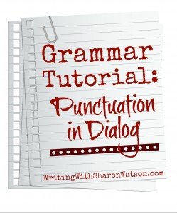 punctuation in dialog