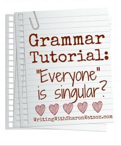 everyone is singular