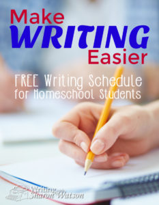 Make writing easier with this free writing schedule for homeschool students