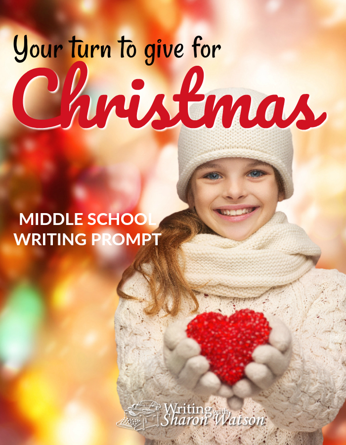 Middle School Writing Prompt -- What would you put in a donation box or on a public Christmas tree for others less fortunate than yourself? Make a list or write a story.