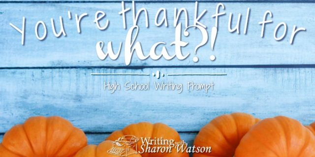 A Strange Thing to Be Thankful For