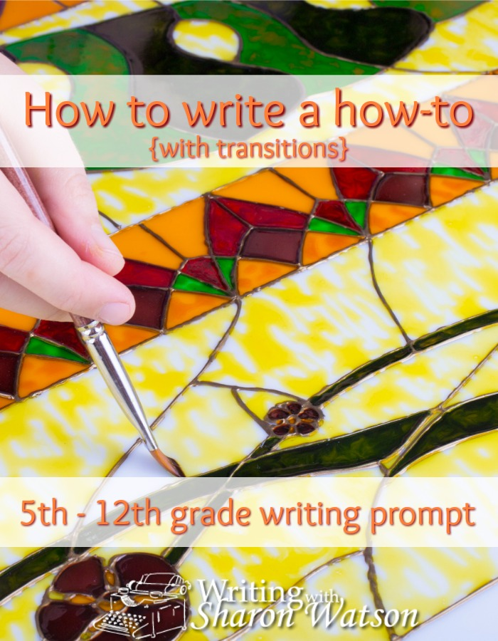 5th - 12 graders learn from a fun example how to plan and organize their how-to paragraph or essay. Practice transitions, too.
