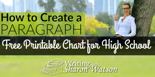 How to Create a Paragraph Free Printable Chart for High School fb