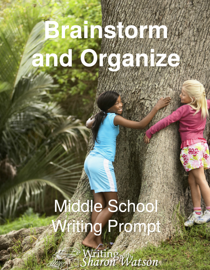 Brainstorm and Organize Middle School Writing Prompt - Writing will become much easier when you use these skills. Brainstorm and organize easily with these two downloadable worksheets on the benefits of trees.