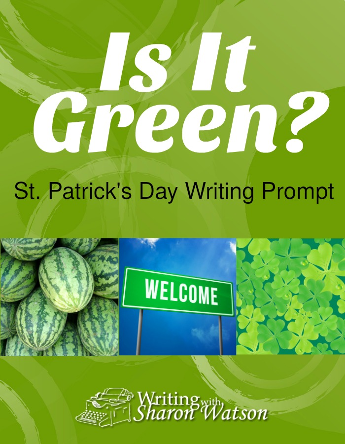 MIDDLE SCHOOL PROMPT: Green is a popular color to wear on St. Patrick's Day. Download this free worksheet to have some fun with the color green.