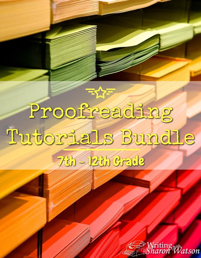 FREE Proofreading Tutorials for Grades 7-12 -- 7th - 12th graders learn proofreading marks, practice finding mistakes in someone else's essay, and find editing advice in this proofreading bundle.