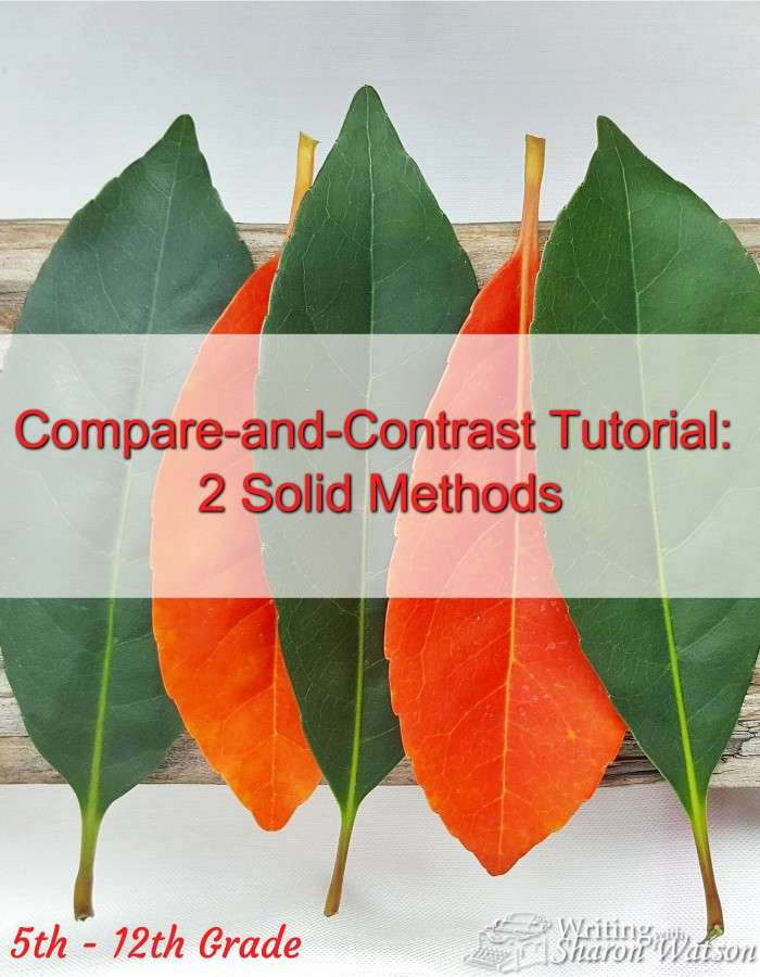 5th - 12th-graders learn two solid methods of compare-and-contrast writing with these two tutorials. Free instructions, worksheets, and printables included.