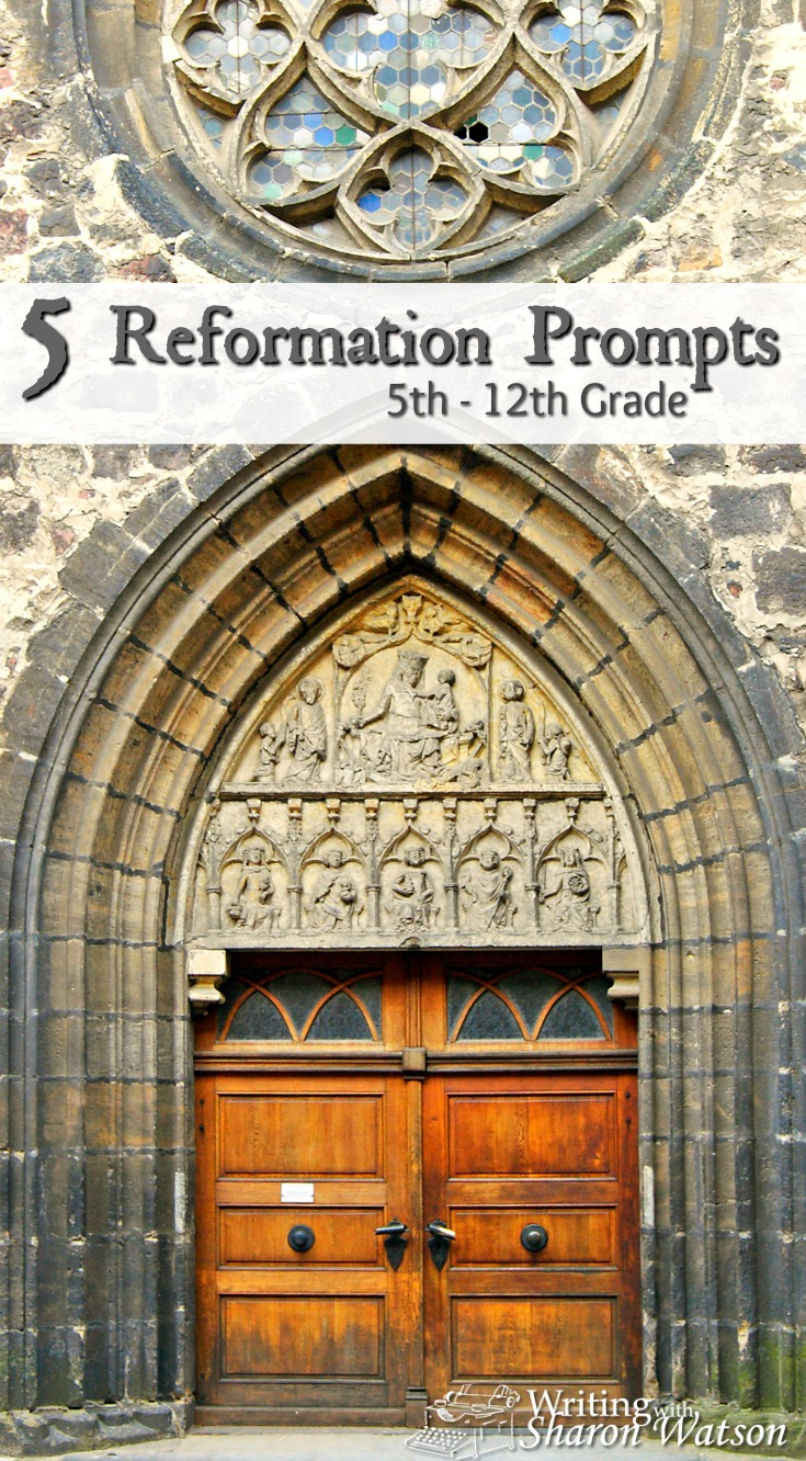 Explore some of the issues and ideas connected with the Reformation with these writing prompts for 5th-12th graders. Opinions, story writing, and more.
