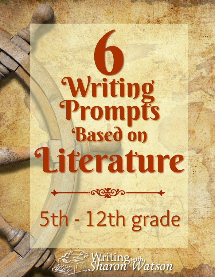 Writing Prompts Based on Literature -- Literature holds an Aladdin's cave of treasures that your students can plunge their pens into.  Whether it's imitating good writing, pondering a topic in the story, or using the story to write another, your students will gain a healthy curiosity for great works of literature as they write.  To enjoy the fun prompts, knowledge of the stories is not necessary.  Terms covered: epiphany, spatial description, and paraphrase.  These literature-based prompts are ready for your 5th – 12th graders.