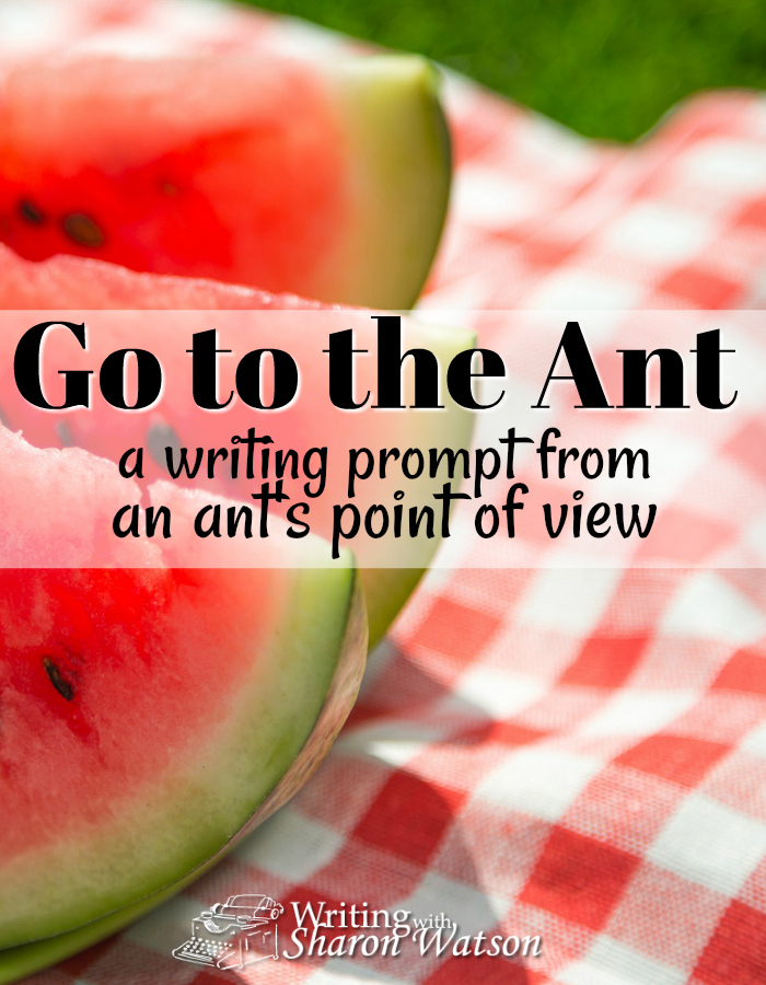 Writing Prompt: You aren't the only one who shows up at a picnic! What is it like for the ants? Enjoy this prompt from an ant's eye view. Suitable for 5th-12th grade.