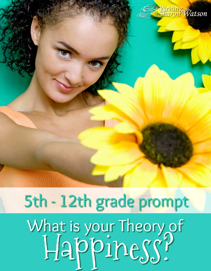 Would any of your sentences about the theory of happiness ever sell for $1.56 million? Find out whose sentence just did. 7th-12th grade writing prompt.